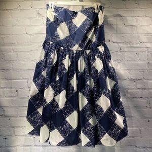 Women's Boden strapless party dress